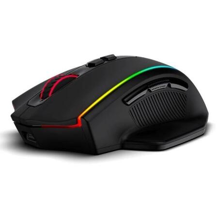 Mouse gaming wireless si cu fir Redragon Vampire Elite negru iluminare RGB