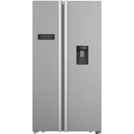 Side-by-side Tesla RB5101FHX1, 518 l, Total No Frost, LED touch screen, Clasa F, H 177 cm, Inox