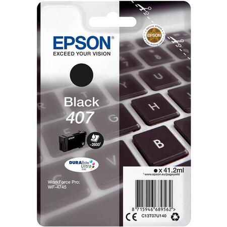 Cartus cerneala Epson C13T07U140, black, 2.6k, WorkForce Pro WF-4745 DTWF