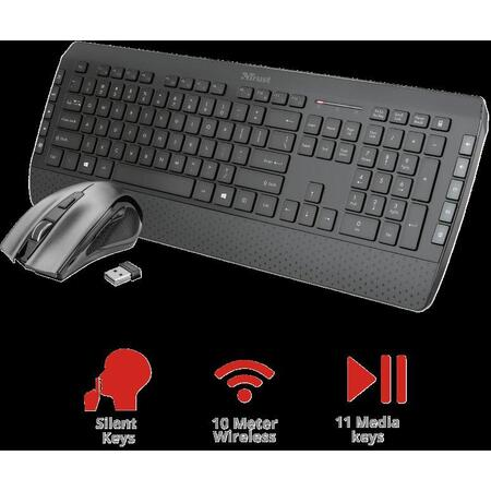 Trust Kit Wireless keyboard+mouse Tecla2
