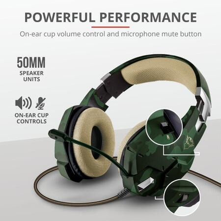 Trust GXT 322C Carus Gaming Headset jung