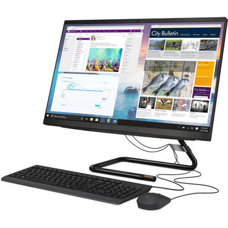 All-In-One PC Lenovo IdeaCentre, 23.8 inch FHD IPS, Intel Core i3-1005G1 1.2GHz Ice Lake, 8GB RAM, 256GB SSD, UHD Graphics, Camera Web, no OS